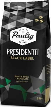 Paulig Presidentti Black Label 250г зерно Паулиг