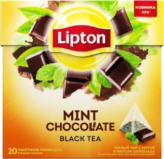 Липтон Чёрн. MINT CHOCOLATE С МЯТОЙ 20ПИРX1.8G Lipton