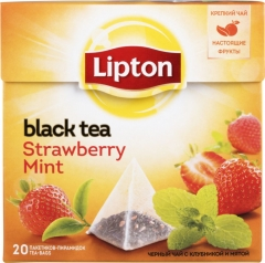 Липтон Strawberry Mint пак.-пирам. с аром. клубники и мяты 20х1,8г Lipton