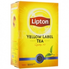 Lipton Чёрн. Yellow Label Tea Листовой 100Г  Липтон