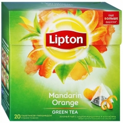 LIPTON ЧАЙ ЗЕЛ АРОМАТ MANDARIN ORANGE TEA C ЦЕДРОЙ ЦИТРУСОВЫХ 20ПX1.8Г 1/12