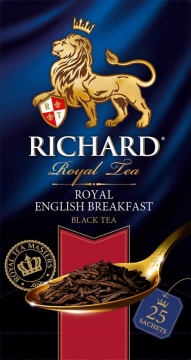 Чай Richard Royal English Breakfast 25х2 черный 1/12 Ричард
