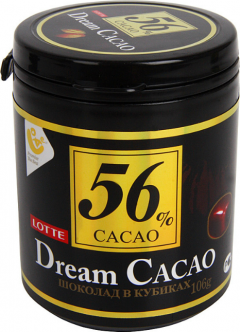 Шоколад в кубиках Дрим Какао 56%  106гр./6шт. Dream Cacao