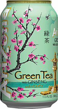 Arizona green tea with ginseng and honey 0,35л./30шт. Аризона