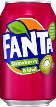 Fanta Strawberry & Kiwi 0,33л./24шт. Фанта