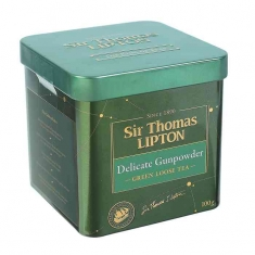 SIR THOMASЛиптон ЗЕЛЕНЫЙ DELICATE GUNPOWDER ЛИСТОВОЙ 100Г